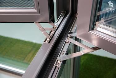 SJ-108系列断桥铝合金钢网一体外开窗