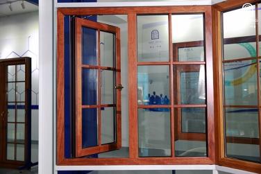 SJ-75铝木复合外开窗
