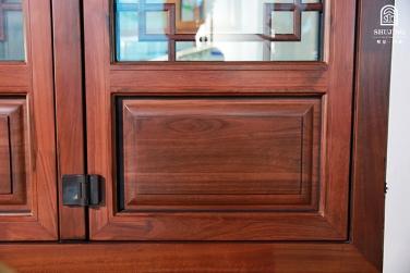 SJ-75铝木复合折叠门