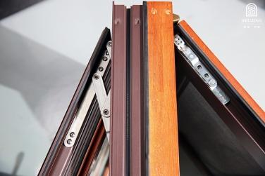 安吉SJ-108铝木复合钢网一体外开窗