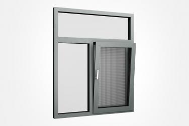 SJ-93C系统断桥铝合金内开内倒窗-窗纱一体