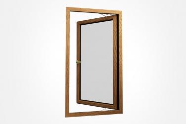 SJ-75系列铝木复合外开窗