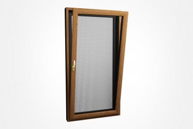 SJ-108系列铝木复合钢网一体内开内倒窗