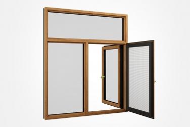 SJ-108系列铝木复合钢网一体外开窗