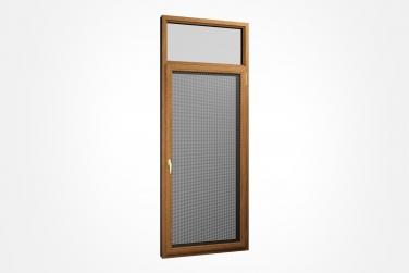 SJ-108系列铝木复合钢网一体平开门